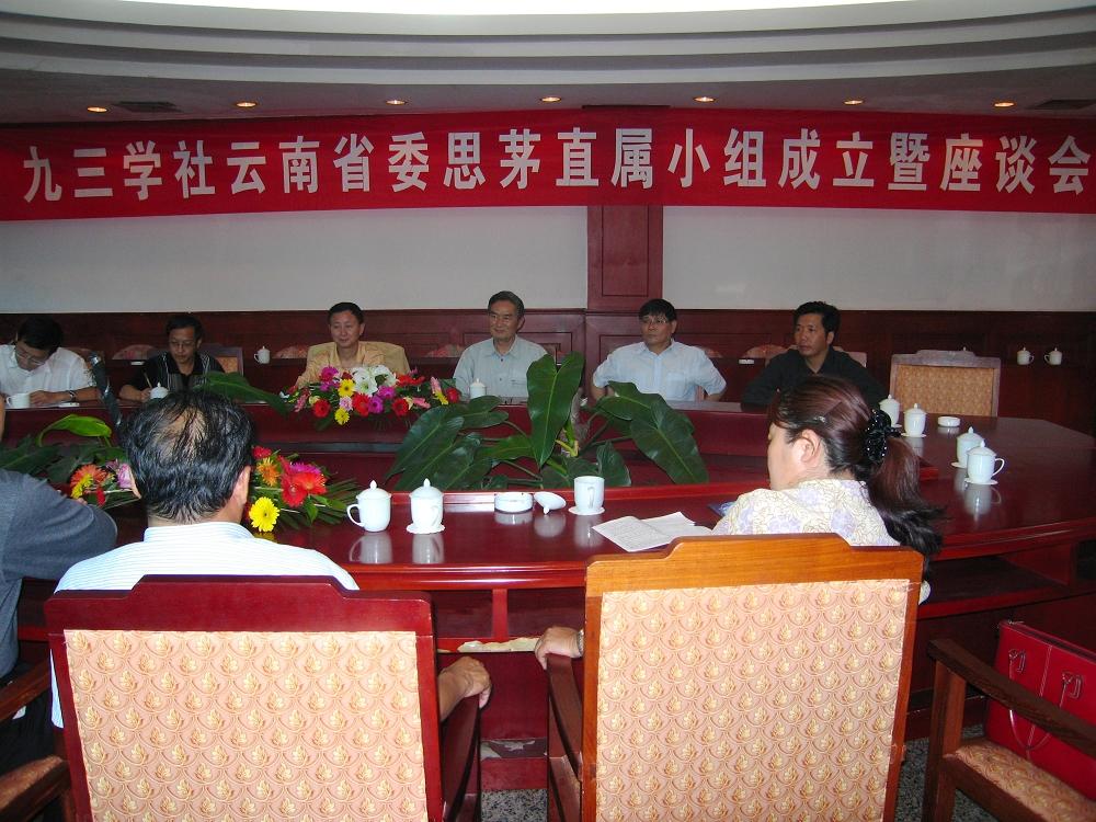 社云南省委思茅直属小构成立